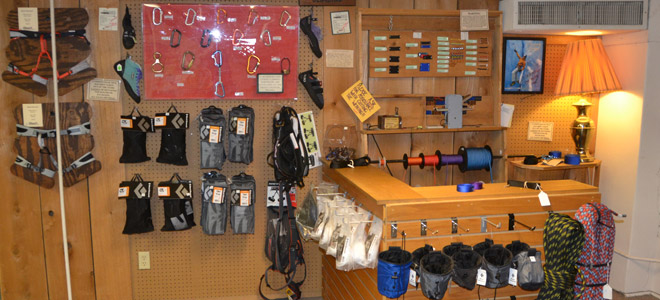 Climbing equipment on display