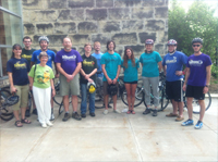 Staff at City Commission for Bike Week
