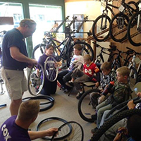 Scouts Learning about Bikes