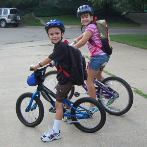 Teaching Kids how to ride a bike