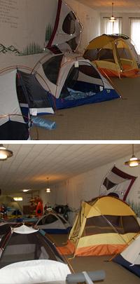 Tent room on third floor